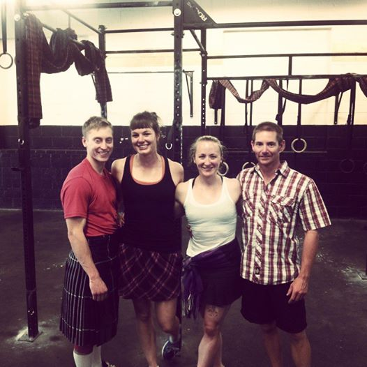 Bailey n' me and our handsome men: our wee crew at Royal City Crossfit's Highland Games inspired workout (before we were all sweaty).