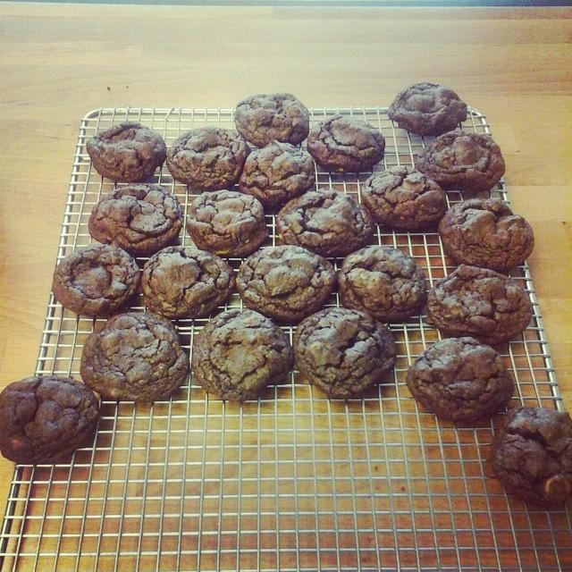 Chocolate peanut butter chip cookies! YUM #fairlawn #shopsmall #yum #zlicious #cookies #nj