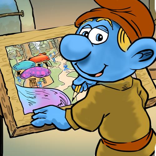 Untitled Smurf Movie - Storyboard Concept Frame