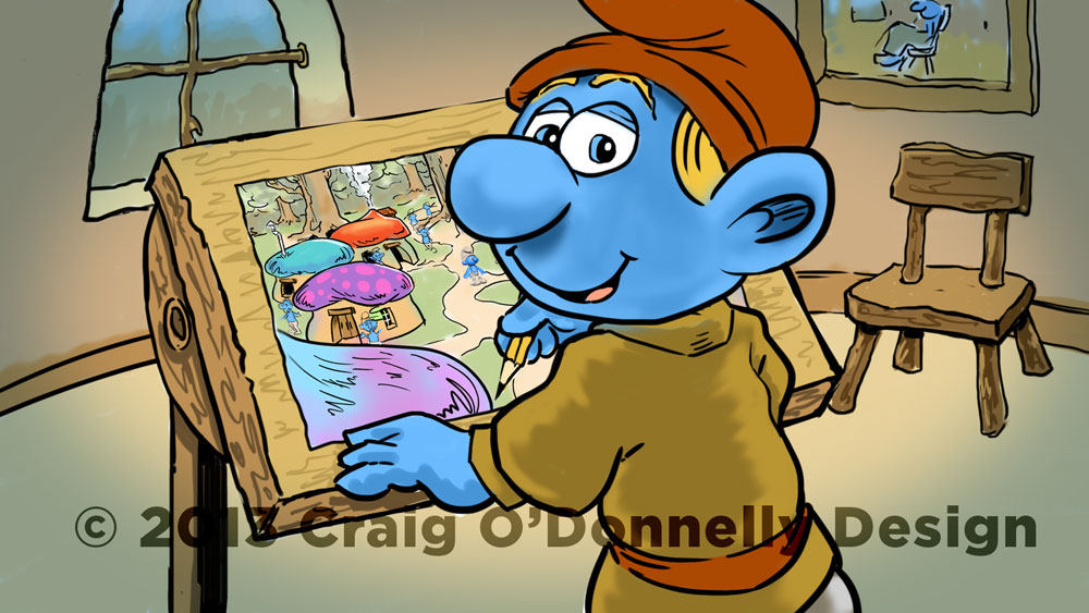 Untitled Smurfs Movie - Storyboard Concept Frame