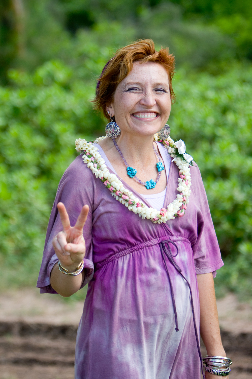 Annette being all cool in Hawaii
