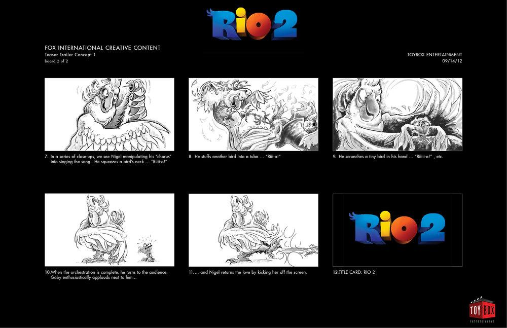 """""""Rio 2"""" - Storyboard Concept 1, Page 2"""