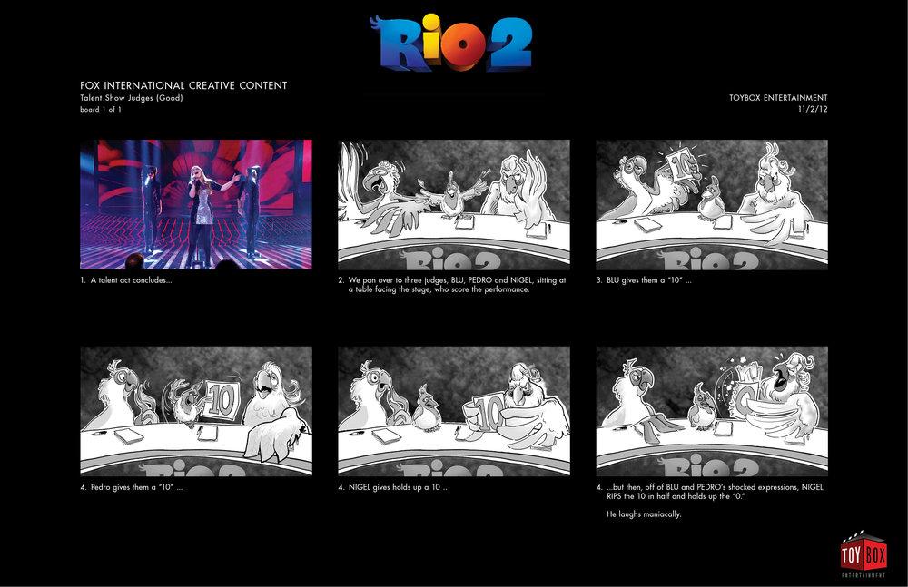 """Rio 2"" - Storyboard Concept 2"
