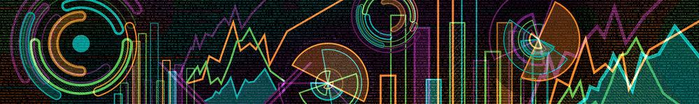 """Splunk .conf18 Main Stage Graphic """"Cityscape Data 1"""""""