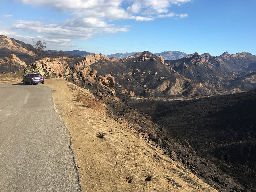 Annette's Car at Lookout Drive Corner Turn /Looking At Malibu Creek State Park / M*A*S*H Site