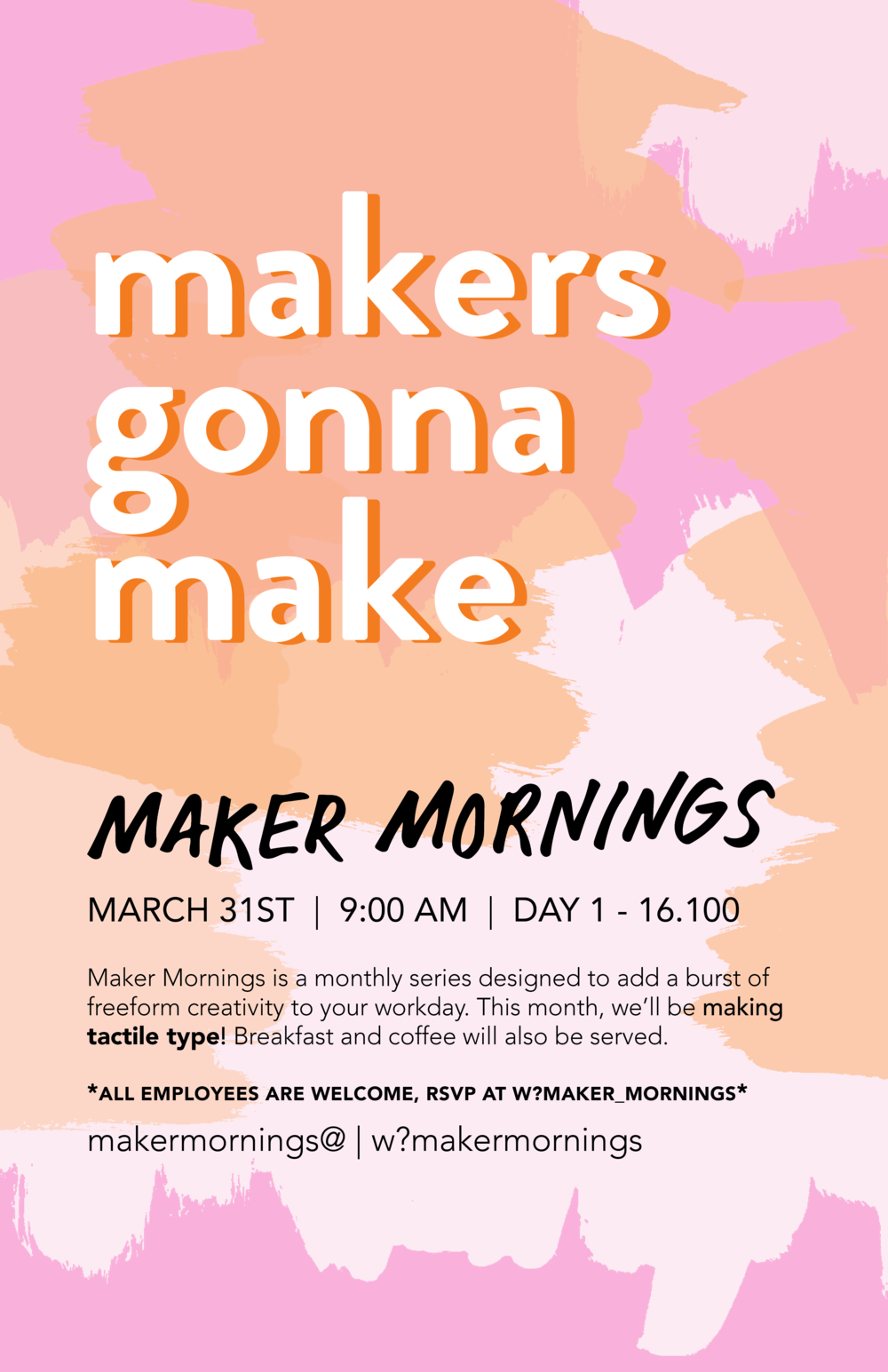 Maker Mornings Poster