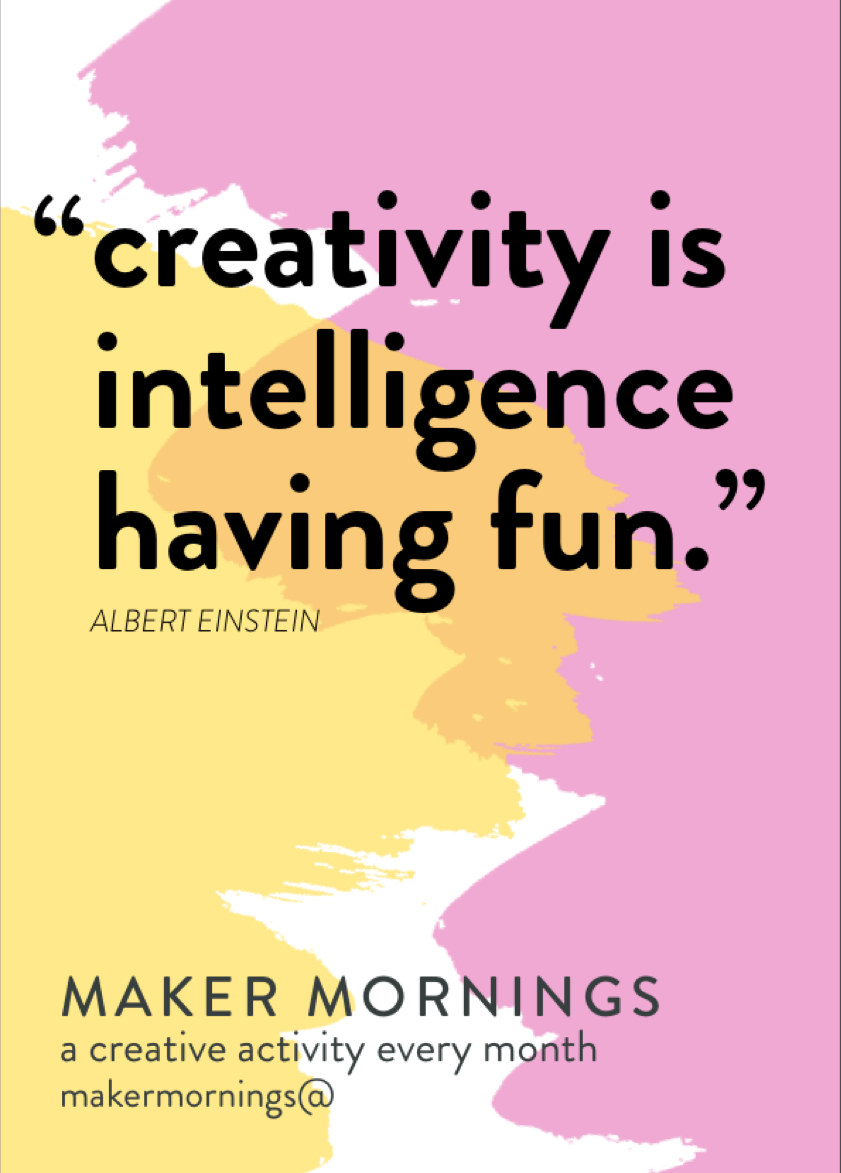 Maker Mornings 6x4 Cards