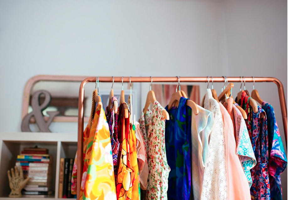 maeflowers vintage dresses lined up waiting to be worn. shop them here.