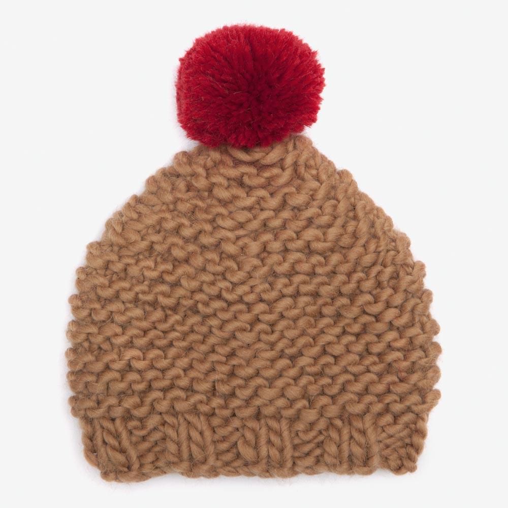 463b0c7f7ba Camel   Red Bobble Hat — gillyb