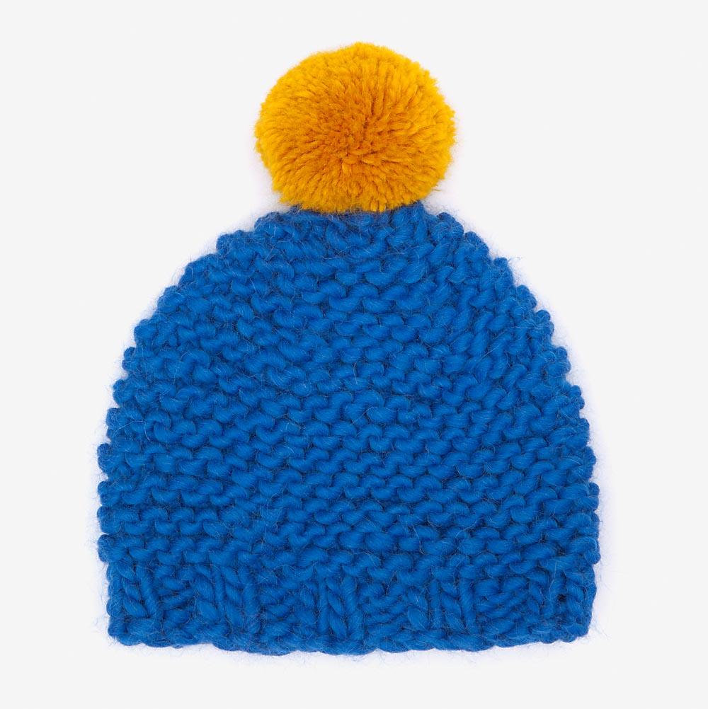 Blue   Yellow Bobble Hat — gillyb 00ebb336806