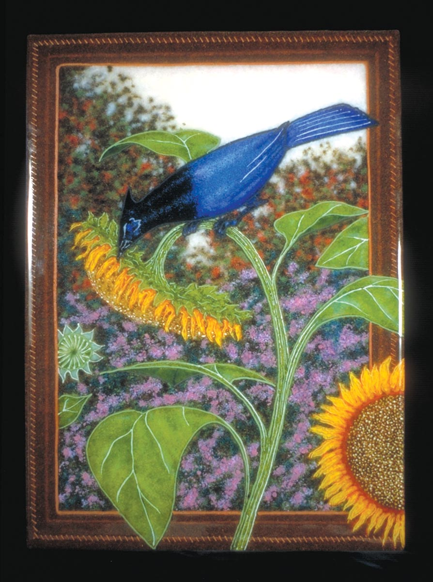 Sunflower and Bluejays