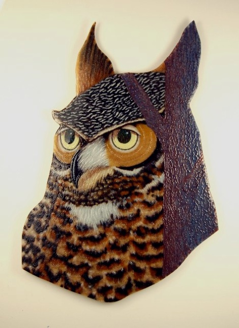 "Great Horned Owl, 48"" x 32"""