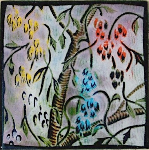"Hanging Flowers, 12"" x 12"""