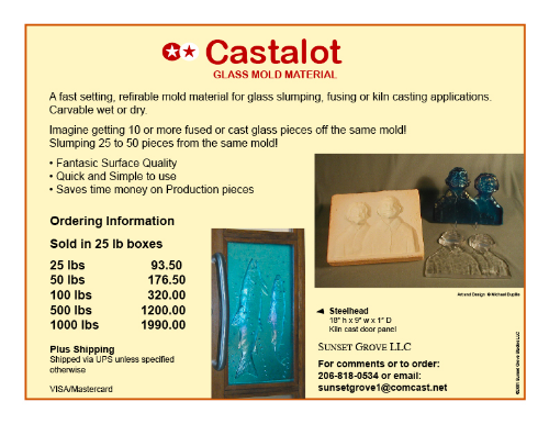 Please contact me for ordering. Wholesale orders welcome.    Email Michael   regarding orders for Castalot as shipping methods will vary and also if you are interested in being a Castalot distributor.