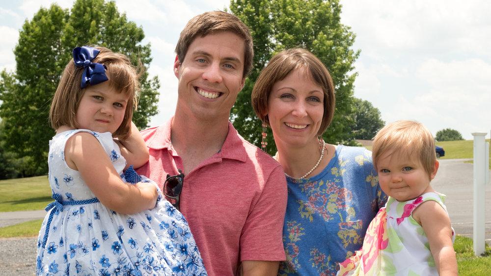 Ben, Lauren, Georgiana, and Gabriela Powell