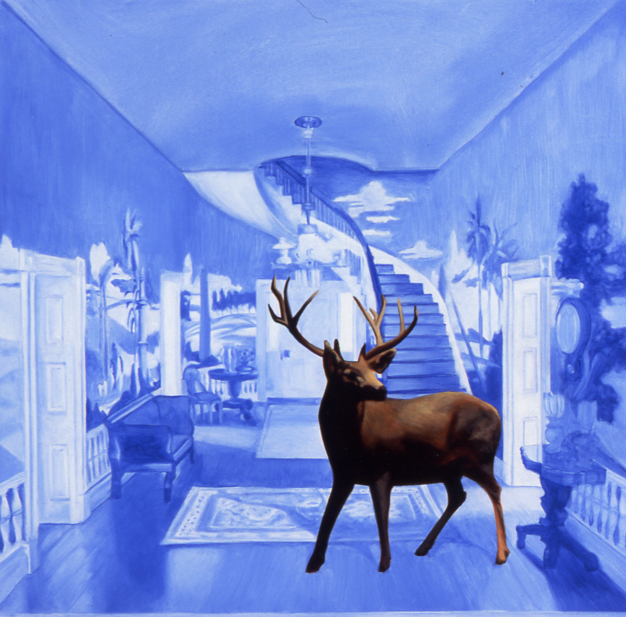 Untitled (Blue Deer)