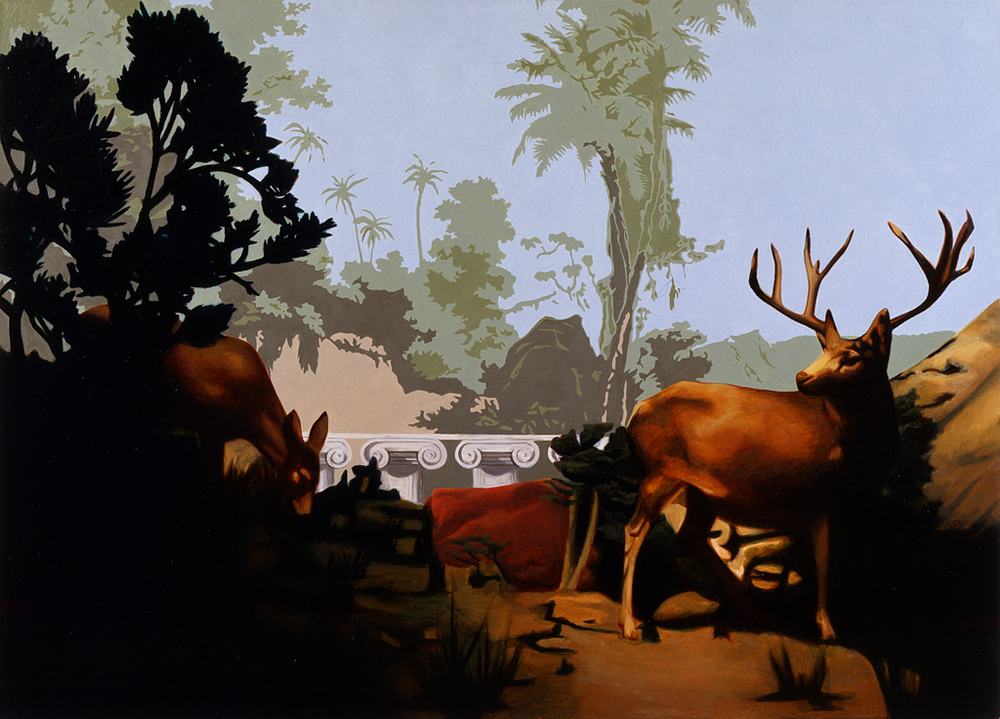 Untitled (Deer and Wallpaper)