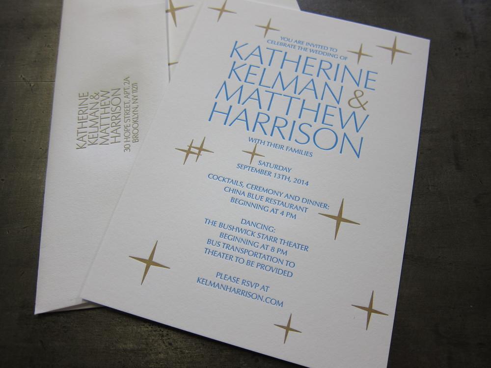 Wedding Invitation Homage — Sheffield Product
