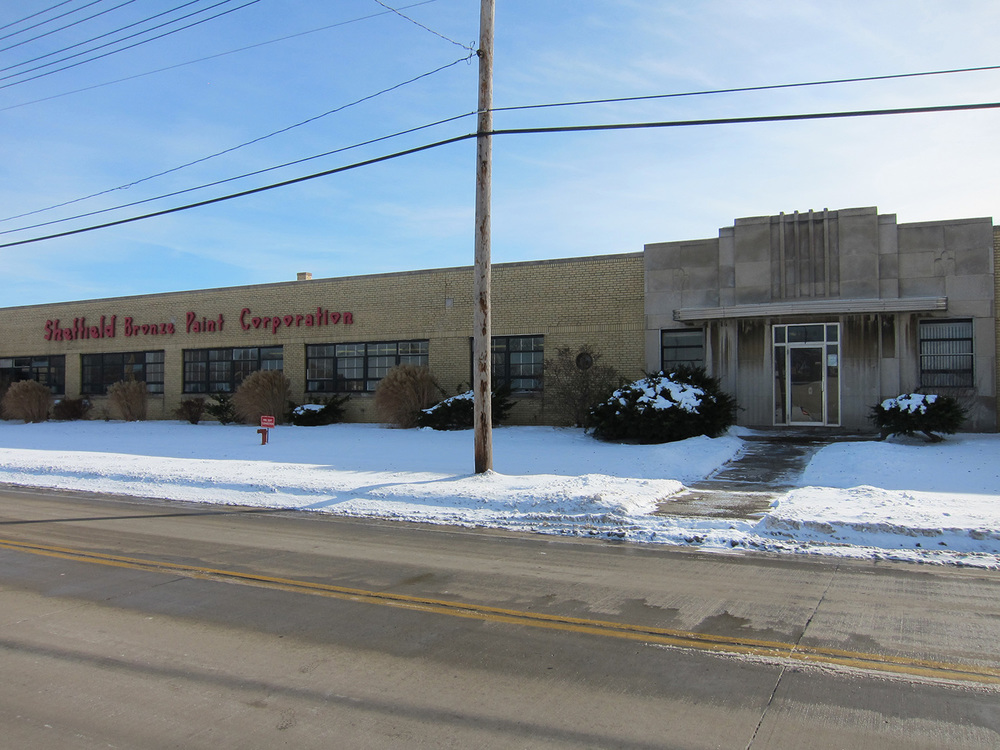 Exterior view of the Sheffield Bronze Paint Corporation
