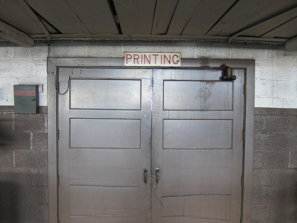 Entrance to the printshop