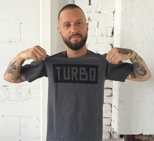 Ryan Duffy, VICE alumni, representing TURBO on the mean streets of Brooklyn