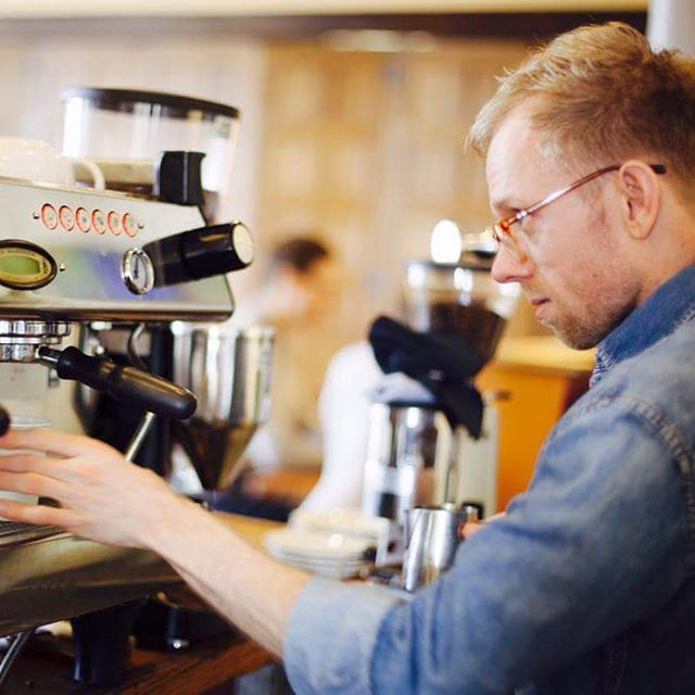 it's a sad day for us, as Christopher's time at Rohs Street comes to a close. he's one of the longest serving baristas in cafe history, and we'll forever miss his kind heart, his impeccable denim, and his constant desire to connect with people. stop by and see him today from 12-6 for his last shift. • we wish you all the best, @christopher.b.maier - and when we stop crying, we'll see you on the other side of the bar.