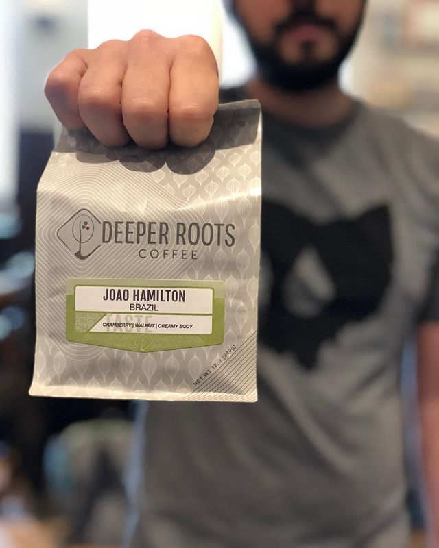 New coffee from Deeper Roots: back for action in 2018, it's Joao Hamilton. • Year after year, we're blown away by Joao and his family's coffees. This years crop is tasting like sweet vanilla, cranberries, and walnuts. Basically your new favorite breakfast. • Thanks to @cincycoffee for keeping us looking fresh. • • • #coffee #craftcoffee #specialtycoffee #brazil #deeperroots #deeperrootscoffee #rohsstreet #rohsstreetcafe #cincinnati #cincy #ohio #cincycoffee