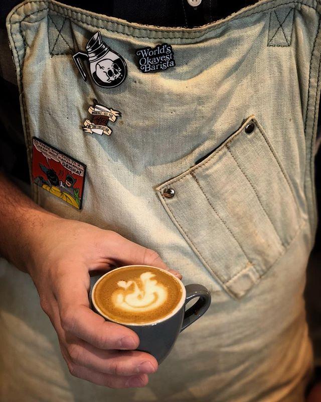 Worlds Okayest Macchiatos • • • #coffee #specialtycoffee #espresso #macchiato #latteart #cincycoffee #rohsstreetcafe