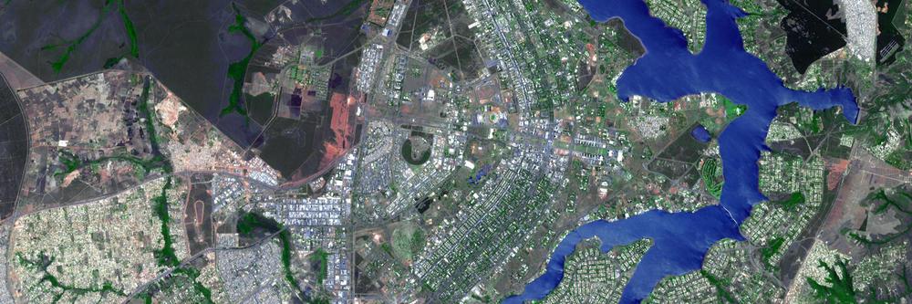 Brasília, vista del espacio. Fuente: NASA