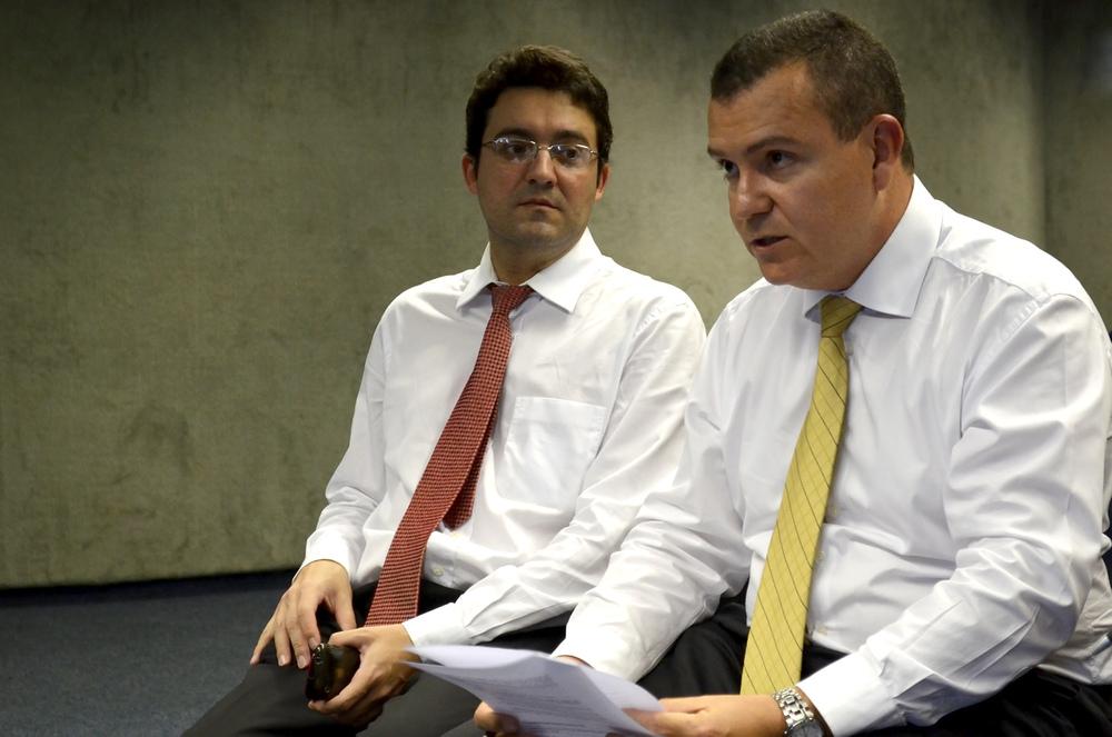 Alex Canuto, Diretor de Assuntos Jurídicos da ANESP ao lado de João Aurélio.