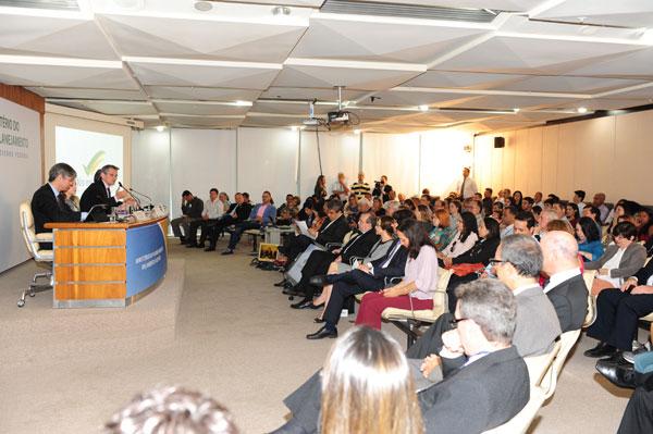 Evento foi realizado no auditório do Ministério do Planejamento. Foto: Ilkens Souza / MP