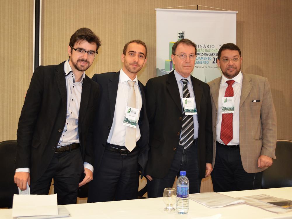 Guilherme Mello, Matheus Azevedo, Roberto Piscitelli e Mansueto Almeida.Foto:Filipe Calmon / ANESP