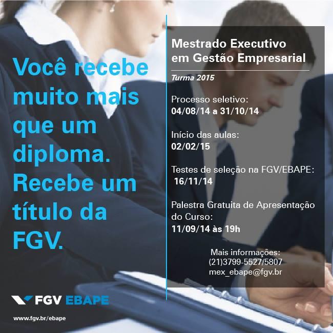 Foto: FGV Divulgação