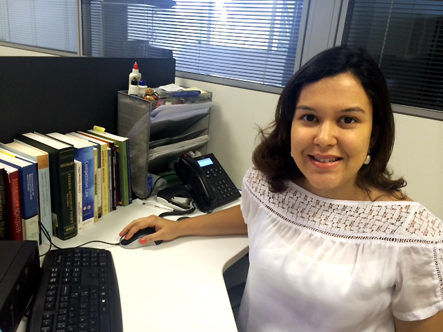 Patrícia Semensato atua no CADE. Foto: Arquivo Pessoal