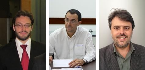 Afonso Pacífico - Trajano Quinhões - Geraldo Horta - Diretores ANESP Foto: Ascom/ANESP
