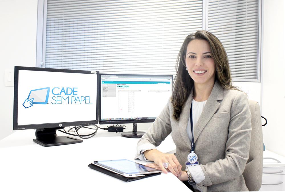 Mariana Boabaid coordena o projeto Cade Sem Papel. Foto:Assessoria de Comunicação do Cade