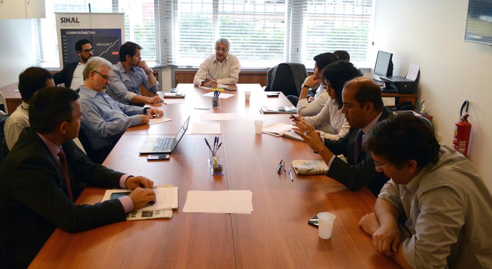Reunião do Ciclo de Gestão e Núcleo Financeiro. Foto: Samuel Oliveira / Sinal