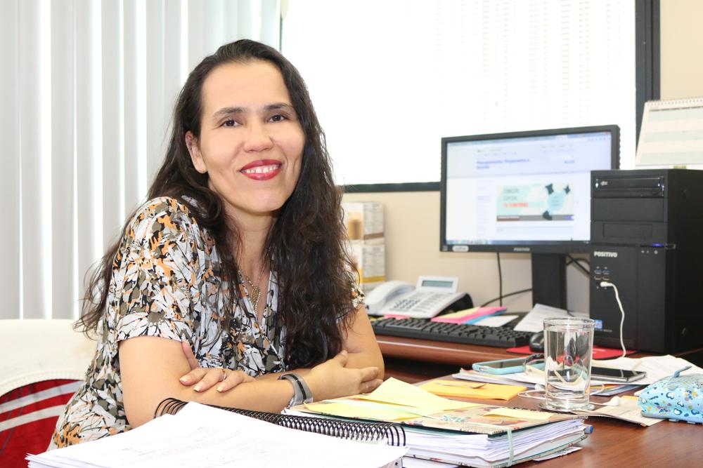 Regina Luna é Diretora do Departamento de Modelos Organizacionais e Força de Trabalho dos Setores de Infraestrutura e de Articulação Governamental do Ministério do Planejamento. Foto: Filipe Calmon / ANESP