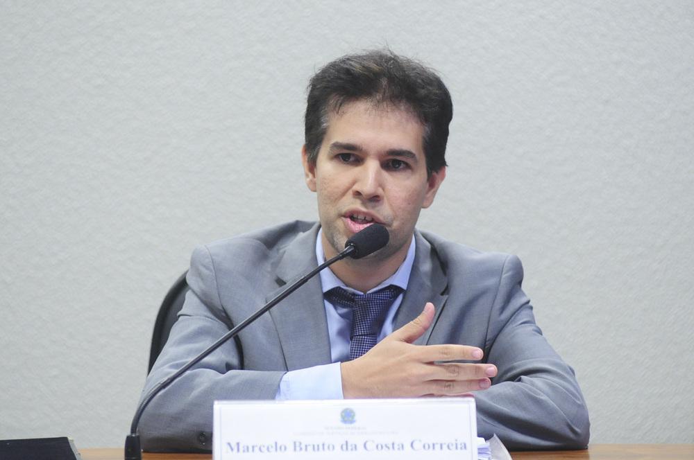 Marcelo Bruto da Costa Correia, durante sabatina no Senado Federal. Foto: Senado