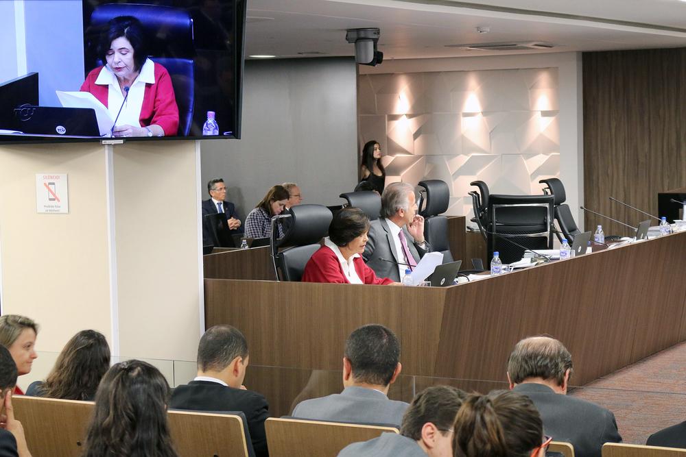 Ministra relatora Ana Arraes lê seu voto pela anulação do certame.