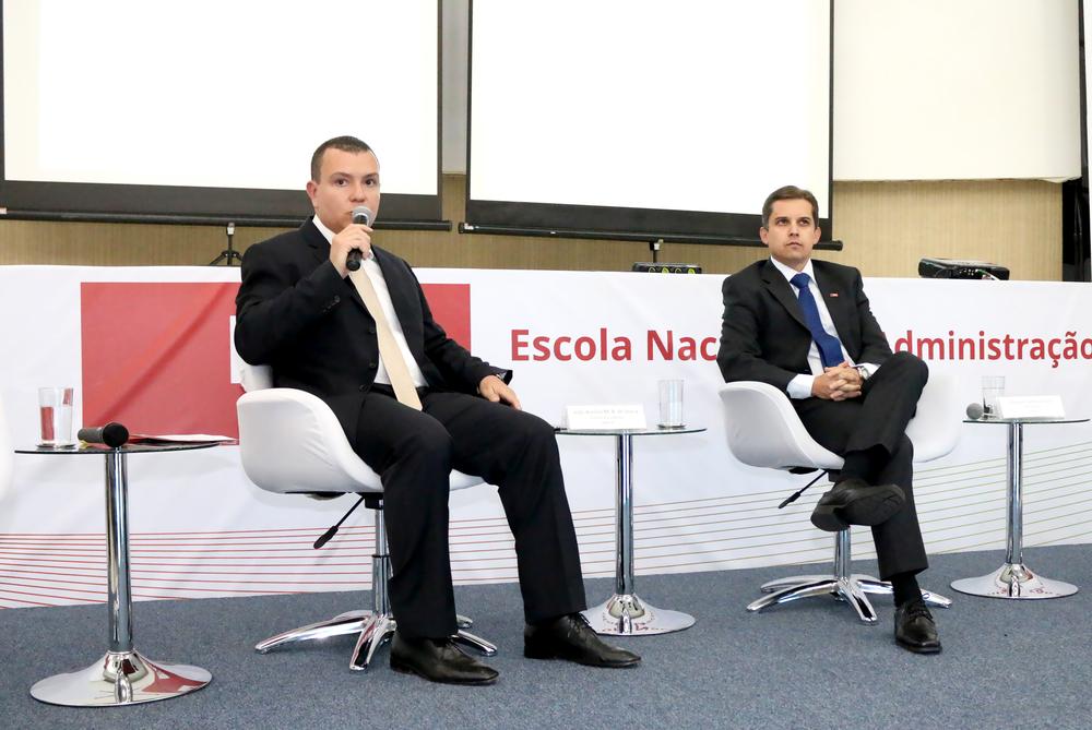 João Aurélio e Gleisson Rubin, Presidentes da ANESP e da ENAP, respectivamente.