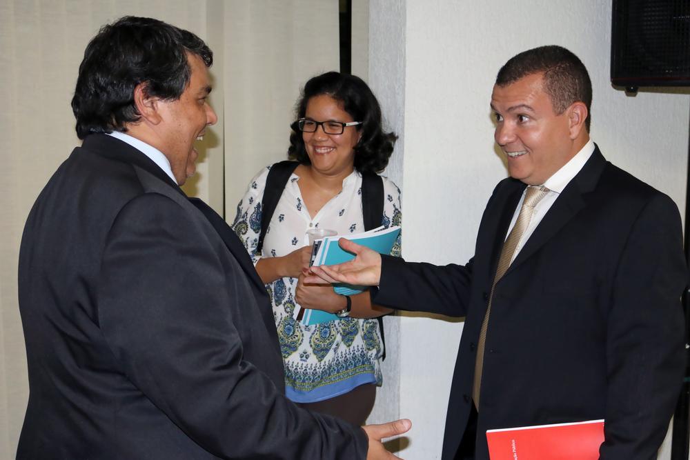 Tito Fróes, Coordenador-Geral de Gestão das Carreiras Transversais do MP, esteve presente