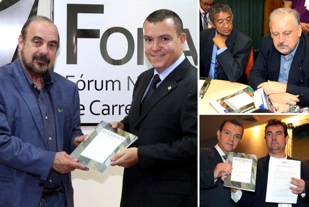 Presidente da ANESP, João Aurélio, se reuniu com representantes dos candidatos do PSDB, PT e PSB.
