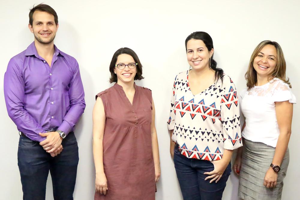 Paulo Brunet, Coordenador Executivo, Paula Lima, Diretora Administrativa, e Diana Lima e Cleidi Andrade, assistentes administrativas da ANESP.