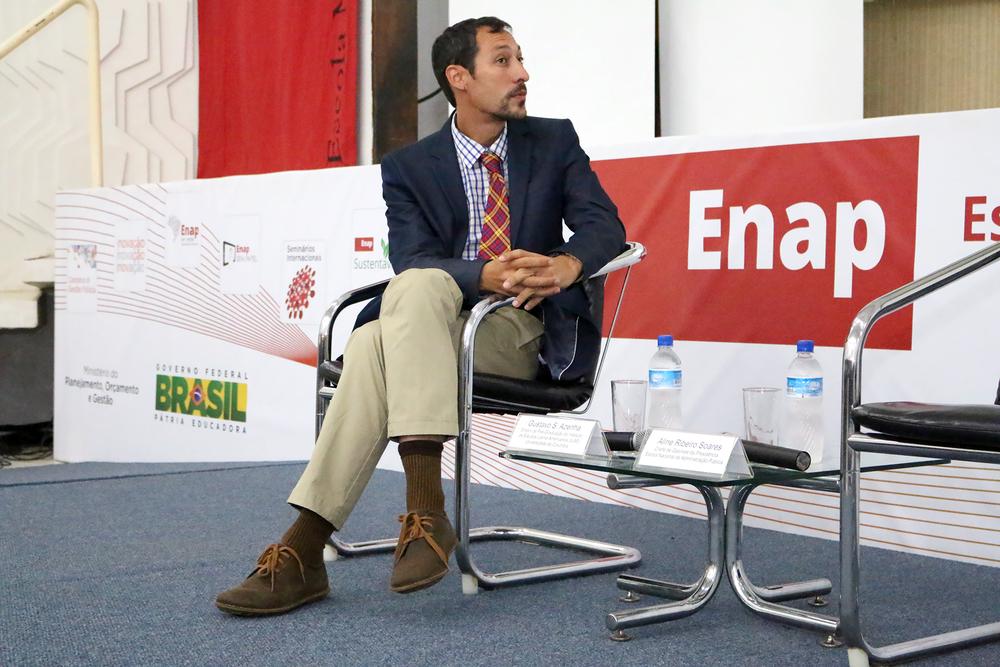 Gustavo Azenha, representou a Universidade Columbia