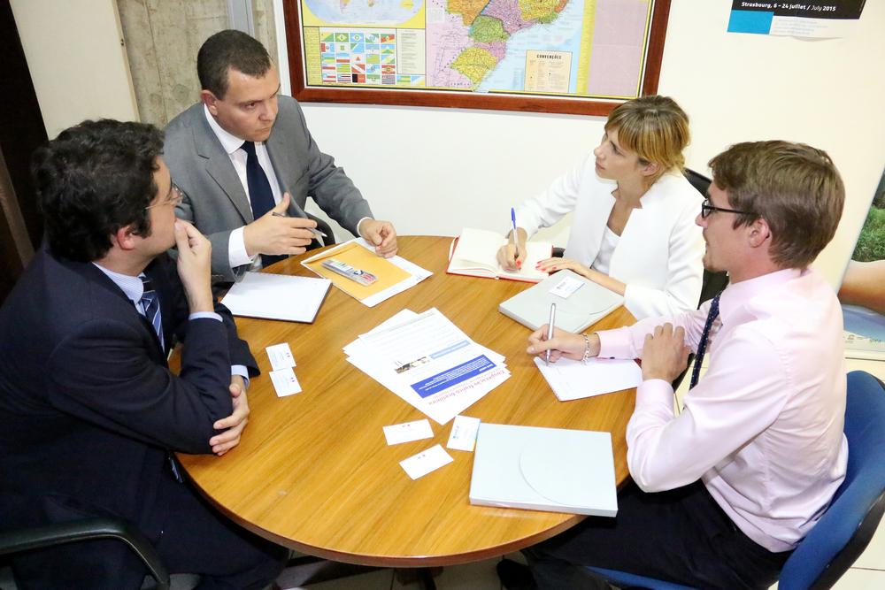 Alex Canuto, João Aurélio, Alexandra Mias e Mathieu Tasse. Foto: Filipe Calmon / ANESP