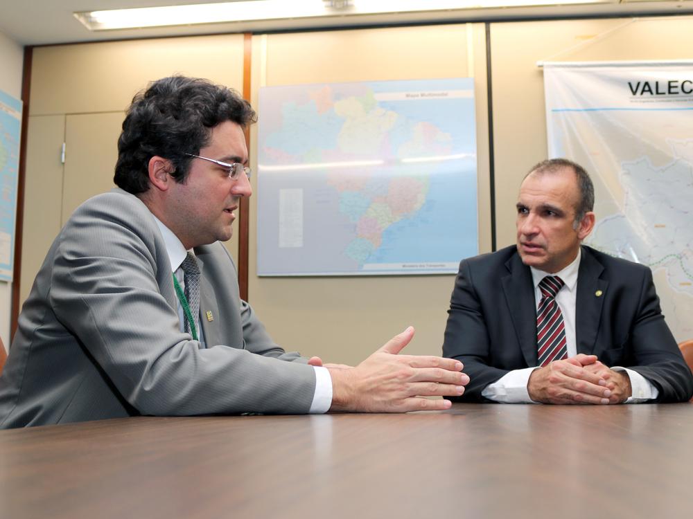 Presidente da ANESP, Alex Canuto, e Deputado Federal Hugo Leal. Foto: Filipe Calmon / ANESP