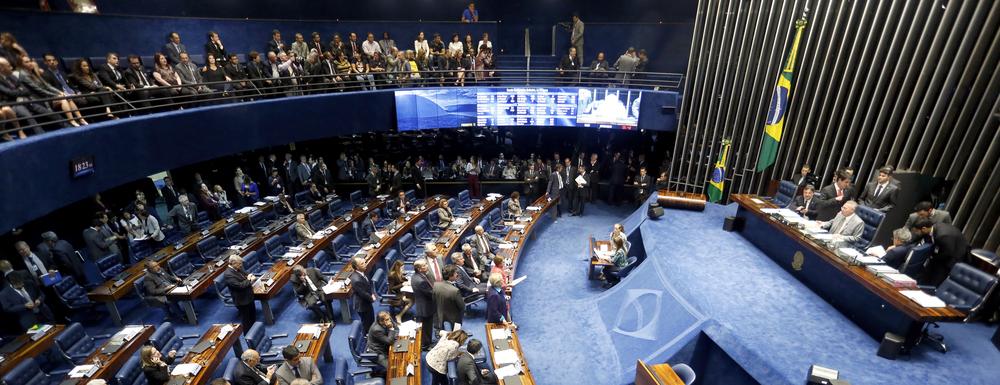 Galeria do Senado ocupada por servidores públicos durante votação dos PLCs. Foto: Agência Senado