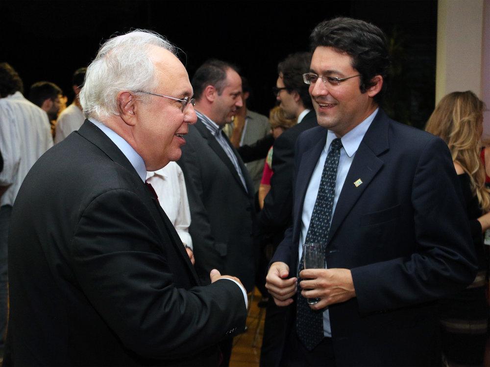 Os EPPGGs Presidentes da ENAP e da ANESP, Francisco Gaetani e Alex Canuto. Foto: Filipe Calmon / ANESP
