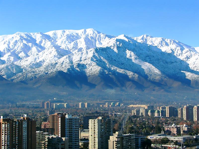 Cordilheira dos Andes vista de Santiago. Foto: Individuo